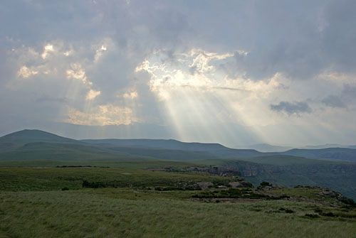 Photograph of Highmoor in the Drakensberg