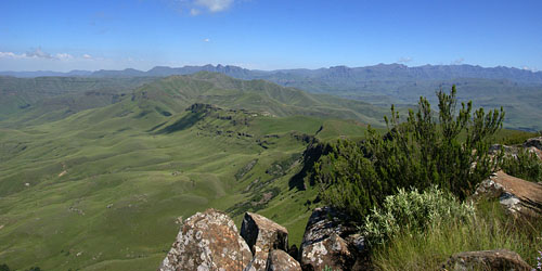 Photograph from Mount Sutherland towards Drakensberg escarpment