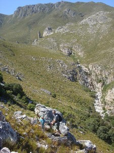 Hiking up to Phillipskop cave