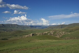 View of vast expanse of Eastern Cape Highlands
