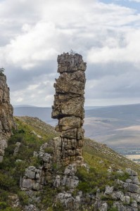 Rock stack on the border of Phillipskop Mountain Reserve