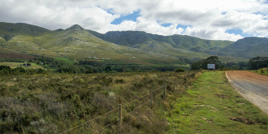 Road to Klein River Cheese Factory and Phillipskop Mountain Reserve