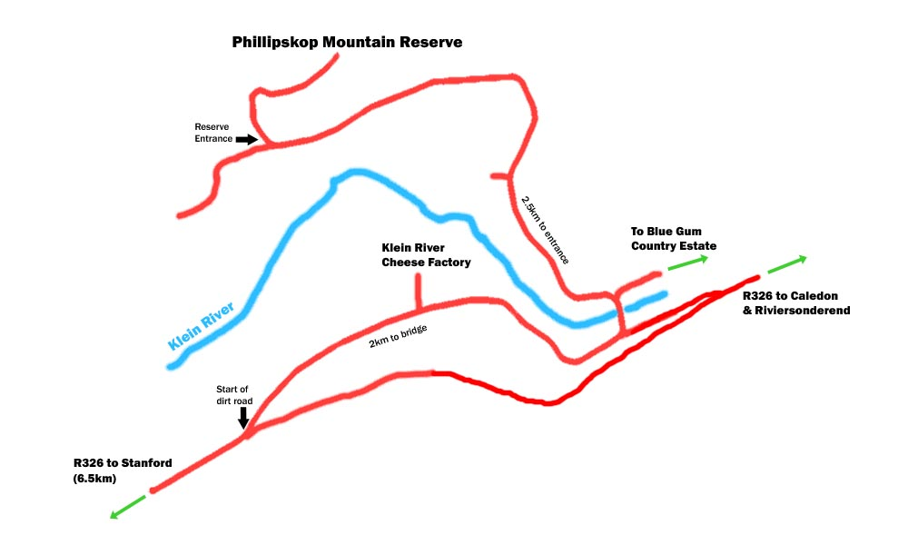 Route map to Phillipskop from R326