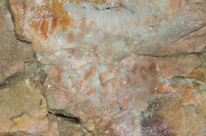 Rock art finger dots