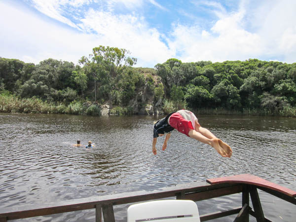 Swimming in Klein River from River Rat